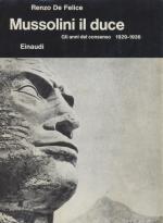 19039 - De Felice, R. - Mussolini il Duce - Gli anni del consenso 1929-1936. Ediz. Originale