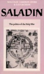 20133 - Lyons-Jackson, M.C.-D.E.P. - Saladin: the politics of the holy war