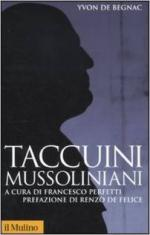 20776 - De Begnac, Y. - Taccuini mussoliniani