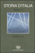 24963 - AAVV,  - Storia d'Italia. Annali Vol 18: Guerra e pace