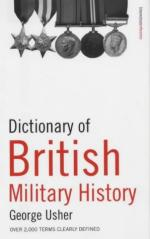 27433 - Usher, G. - Dictionary of British Military History. 2000 term clearly defined