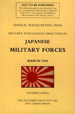 31015 - GHQ India, Military Intelligence Directorate,  - Japanese Military Forces (March 1942)
