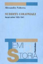 32250 - Volterra, A. - Sudditi coloniali. Ascari Eritrei 1935-1941