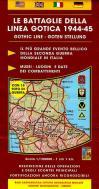 46729 - AAVV,  - Cartina: Battaglie della Linea Gotica 1944-45 Settore occidentale