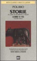 33680 - Polibio,  - Storie. Testo greco a fronte Vol 3: Libri V-VI