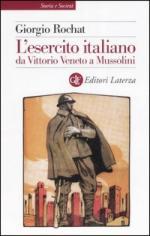 33725 - Rochat, G. - Esercito Italiano da Vittorio Veneto a Mussolini (L')