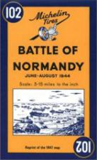 36636 - AAVV,  - Cartina: 102 Bataille de Normandie-Battle of Normandy