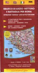 37790 - AAVV,  - Cartina: Sbarco di Anzio-Nettuno e Battaglia per Roma 1944