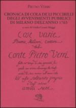 39802 - Verri, P. - Cronaca di Cola de li Piccirilli degli avvenimenti di Milano