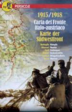 45754 - AAVV,  - Cartina: 1915-1918 Carta del fronte Italo-Austriaco