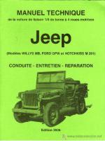 46224 - Arboux, H. - Manuel Technique Jeep. Conduite, Entretien, Reparation