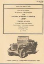 46239 - Ministere de la Guerre,  - Manuel Technique de conduite et d'entretien pour Voiture de reconnaissance Jeep Ford ou Willys TM10-1349