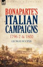 48266 - Hooper, G. - Bonaparte's Italian Campaigns 1796-97 and 1800