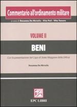 49209 - De Nictolis, R. - Commentario all'ordinamento militare Vol II: Beni