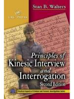 50141 - Walters, S.B. - Principles of Kinesic Interview and Interrogation. 3rd Edition