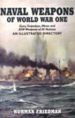 50947 - Friedman, N. - Naval Weapons of WWI. Guns, Torpedoes and ASW Weapons of all Nations. An Illustrated Directory