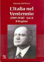 53311 - Del Vesco, A. - Italia nel Ventennio 1919-1938 Vol 2: verso il regime (L')