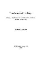 53428 - Liddiard, R. - Landscapes of Lordship. Norman Castles and the Countryside in Medieval Norfolk