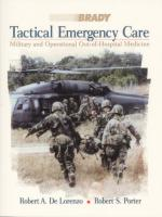 56073 - De Lorenzo-Porter, R.A.-R.S. - Tactical Emergency Care. Military and Operational Out-of-Hospital Medicine