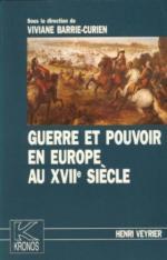 56486 - Veyrier, H. - Guerre et pouvoir en Europe au XVIIe siecle