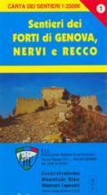 56668 - AAVV,  - Cartina: Forti di Genova Val Polcevera