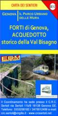 56669 - AAVV,  - Cartina: Forti di Genova Acquedotto storico della Val Bisagno
