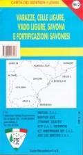 56670 - AAVV,  - Cartina: Varazze, Celle Ligure, Vado Ligure, Savona e fortificazioni di Savona