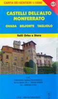 56671 - AAVV,  - Cartina: Castelli Alto Monferrato 1: Ovada, Belforte, Tagliolo