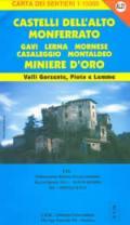 56672 - AAVV,  - Cartina: Castelli Alto Monferrato 2: Gavi, Lerma, Mornese, Casaleggio, Montaldeo, Miniere d'oro