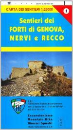 56855 - AAVV,  - Cartina: Forti di Genova e sentieri tra Nervi e Recco alta via dei monti liguri