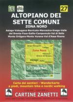 59146 - AAVV,  - Cartina 27: Altopiano dei sette comuni. Zona nord 1:30.000