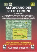 59150 - AAVV,  - Cartina 28: Altopiano dei sette comuni. Zona sud 1:30.000