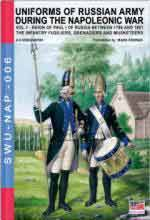 60857 - Viskovatov, A.V. - Uniforms of Russian Army during the Napoleonic war Vol 01 Reign of Paul I of Russia Between 1796 and 1801. The Infantry Fusiliers, Grenadiers and Musketeers