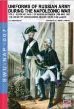 60858 - Viskovatov, A.V. - Uniforms of Russian Army during the Napoleonic war Vol. 02: Reign of Paul I of Russia Between 1796 and 1801. The Infantry Grenadiers, Musketeers and Jaegers