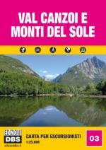 61528 - AAVV,  - Cartina per escursionisti 1:25.000 nr 03: Val Canzoi e Monti del Sole