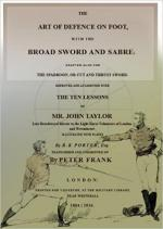 63980 - Frank, P. - Art of Defence on Foot with the Broad Sword and Sabre (The)