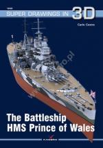 65578 - Cestra, C. - Super Drawings 3D 69: Battleship HMS Prince of Wales