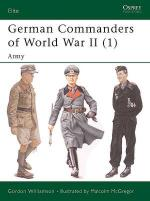 30596 - Williamson-McGregor, G.-M. - Elite 118: German Commanders of World War II (1) Army
